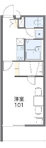 レオパレスエスポアール 312号室間取り図