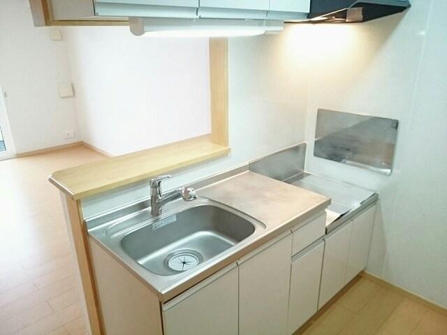 グリーングローブ・K T 01010号室のキッチン