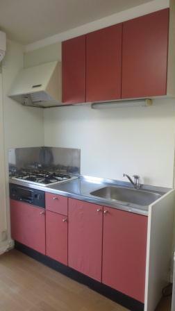 レオパレスボヌールエスパースE 102号室のキッチン
