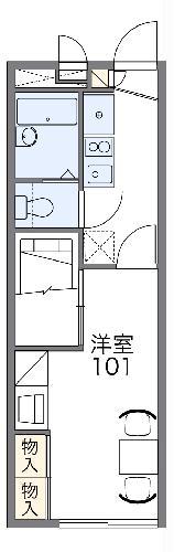 レオパレスマンダリアンコート藤井・108号室の間取り