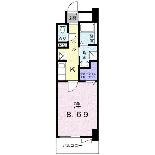 クラール上福岡・02070号室の間取り