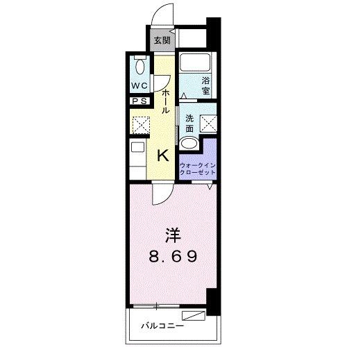 クラール上福岡・04050号室の間取り