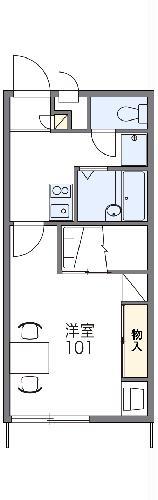 レオパレスMa maison sako・102号室の間取り