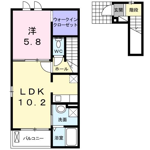 サンレミロジェ 1037 02030号室間取り図