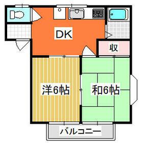 レジデンスワンバレー桜井 201号室の間取り