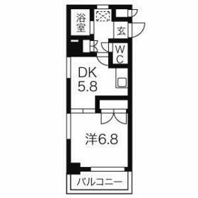 シャンポール大須・601号室の間取り