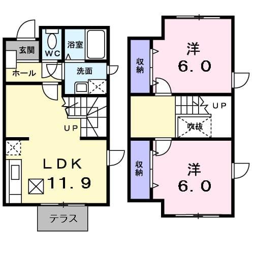 イノセントハウス.YUMI.Ⅱ・01010号室の間取り