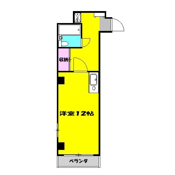 トーカンマンション・208号室の間取り