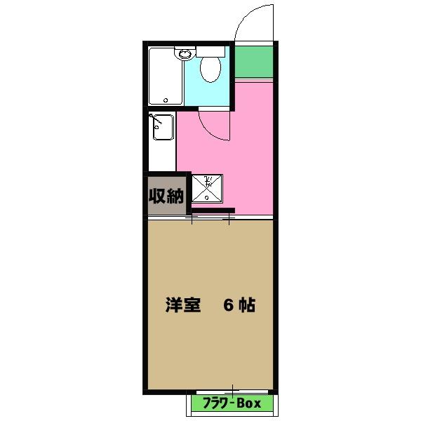 パレーシャル武蔵野・A207号室の間取り