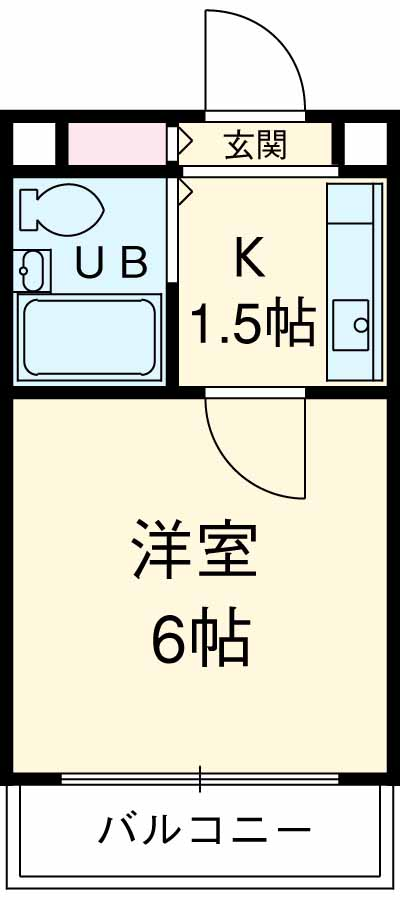 メゾン・ド・南大塚NO1 101号室の間取り