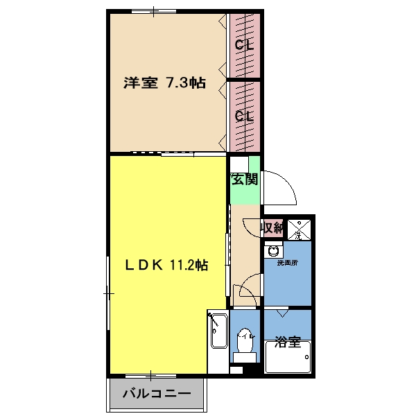 寺ノ上サニーコート1・202号室の間取り