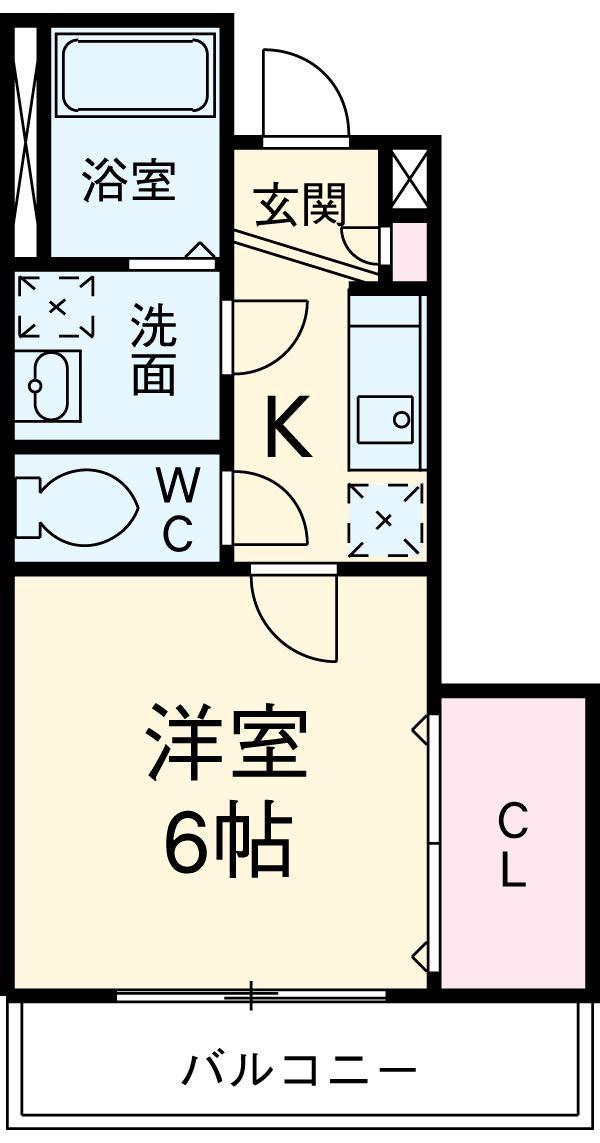 リブリ・Yotsuya 104号室の間取り