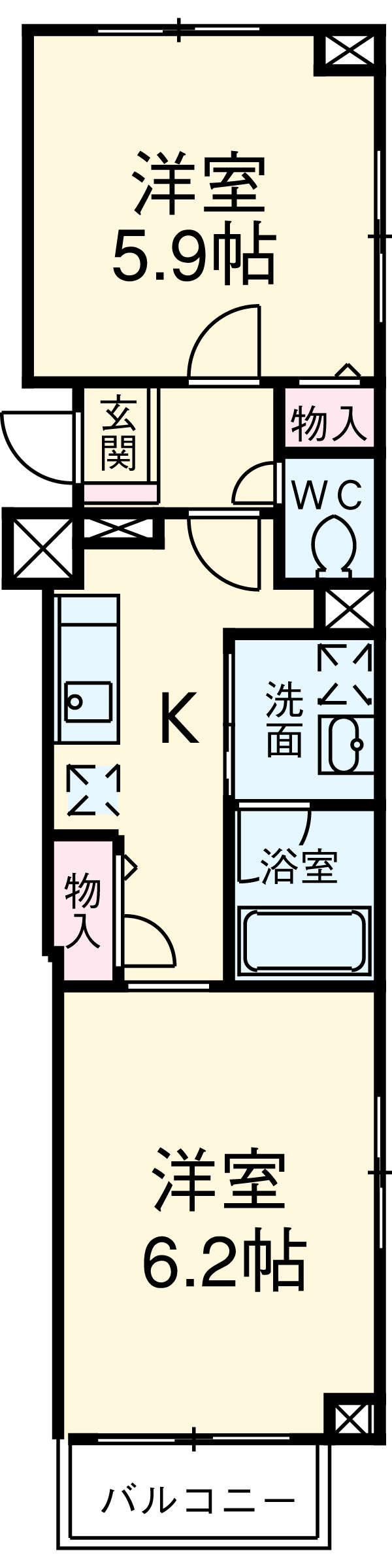 第7千代鶴ビル・1012号室の間取り