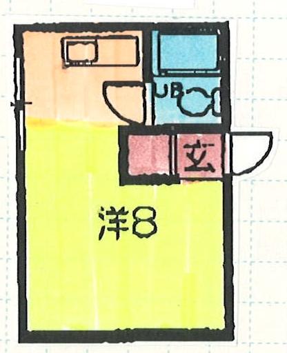 山正ビル・4C号室の間取り