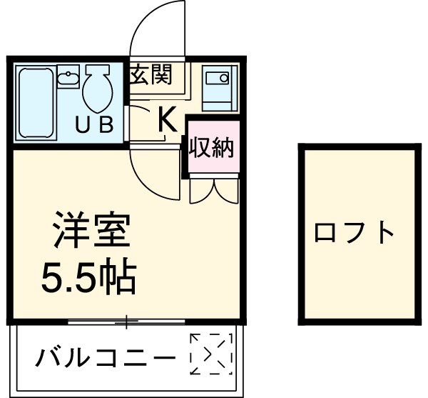 レザン浜田山 103号室の間取り