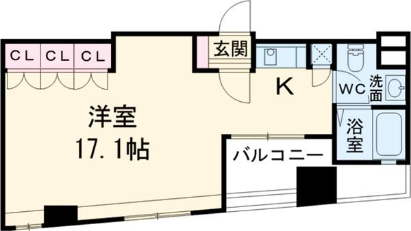 レニール本駒込・1204号室の間取り