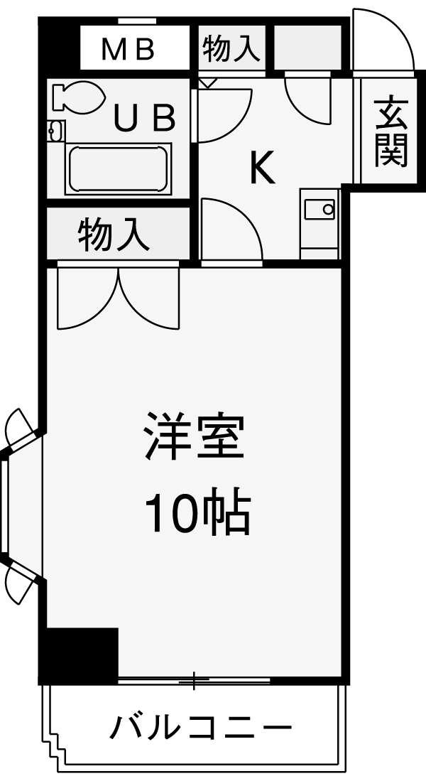 駒込大河原ビル・301号室の間取り