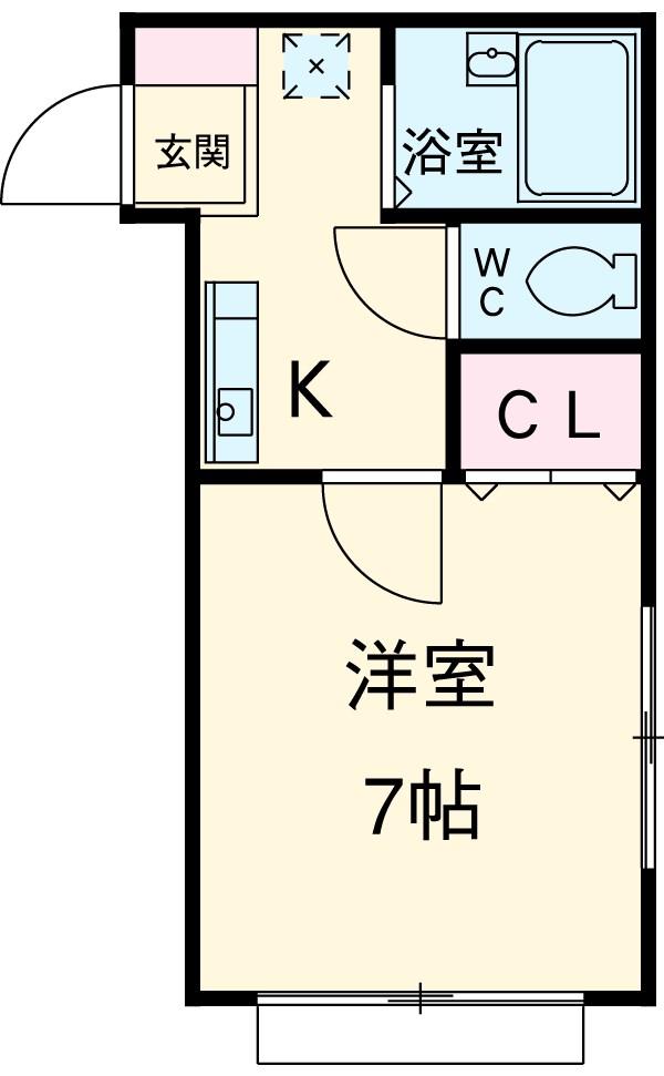 武蔵野壱番館 205号室の間取り