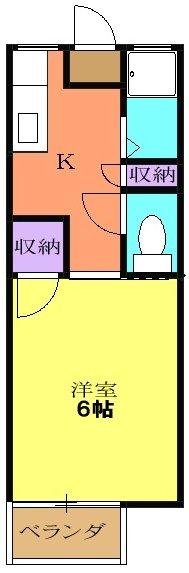ロイヤル小塩Ⅴ・202号室の間取り