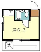 桜コーポ・303号室の間取り