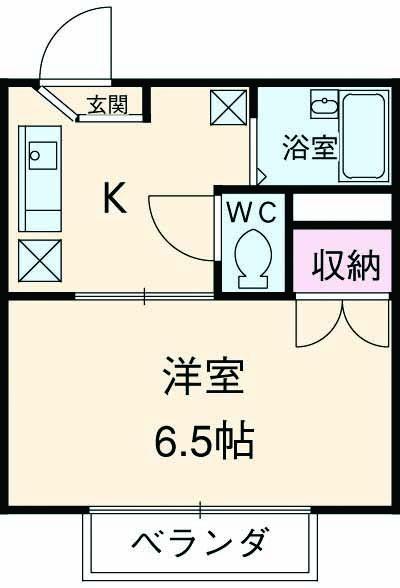 パークサイド駒沢 B-201号室の間取り