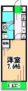 サンハイム久保田 202号室の間取り