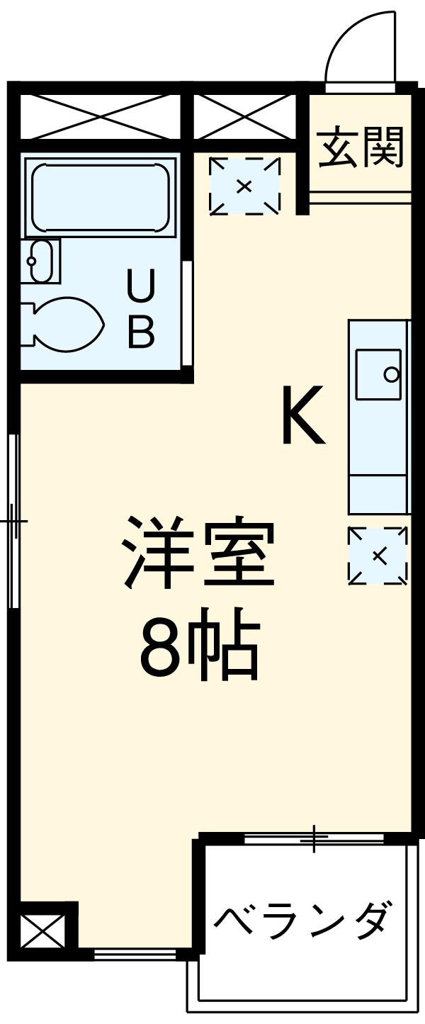 オオギハウス5・201号室の間取り