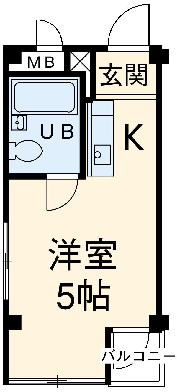第二黒沢コーポ・204号室の間取り
