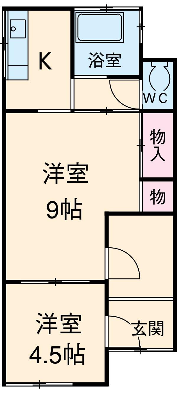 グレーシア横須賀中央 104号室の間取り