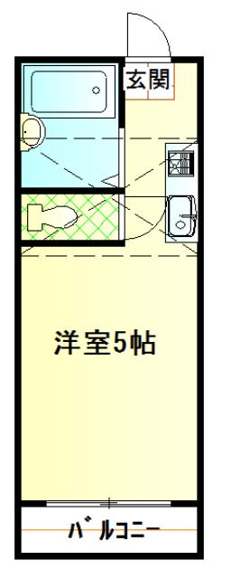 パンシオン堀ノ内・103号室の間取り