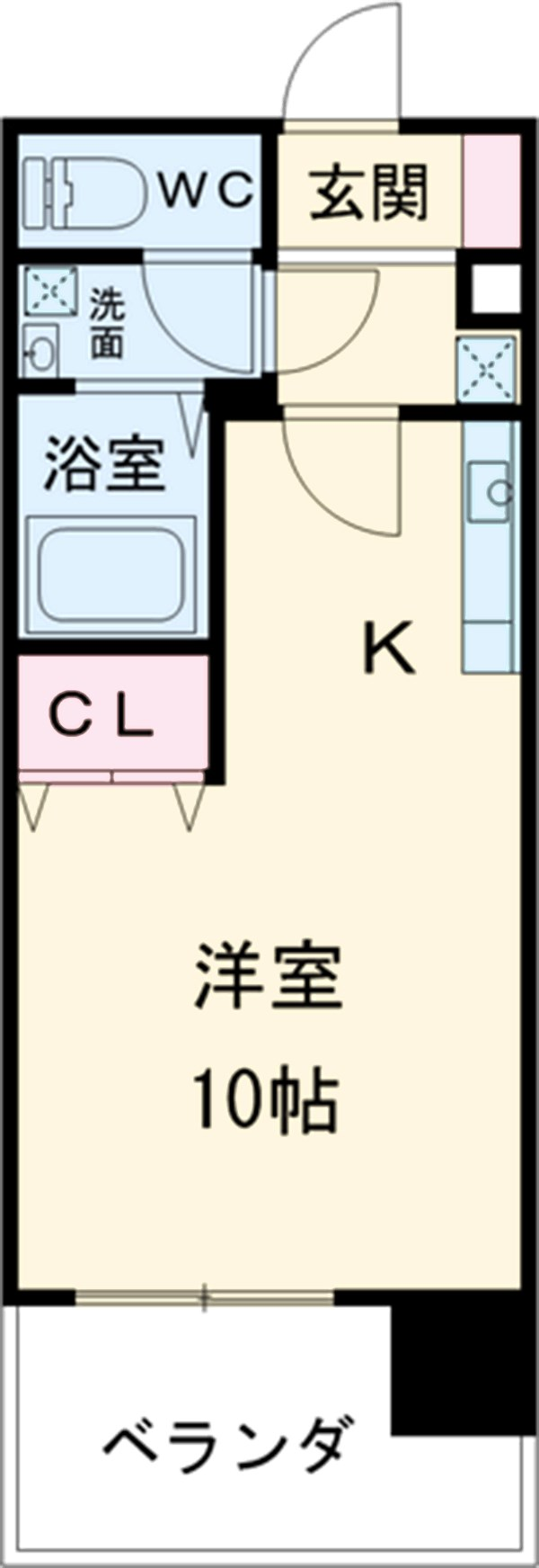 KDXレジデンス神宮前・1002号室の間取り
