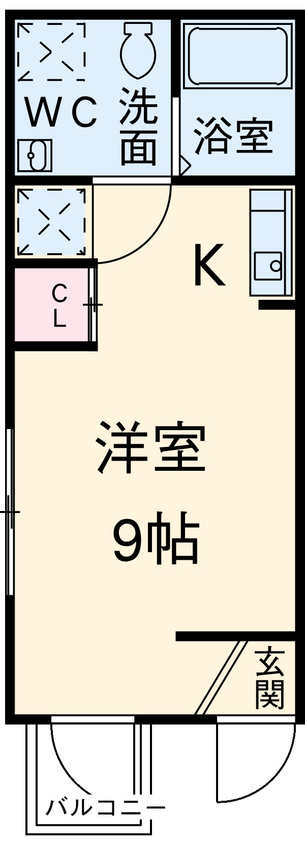 Residence hale ohana・202号室の間取り