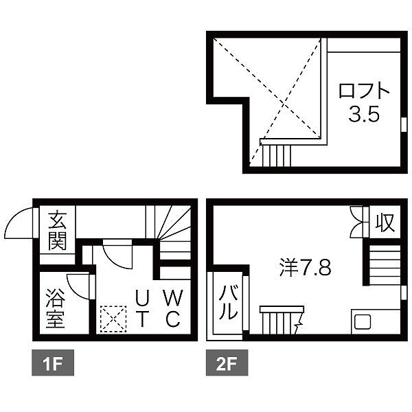 LE COCON豊田B棟・A号室の間取り
