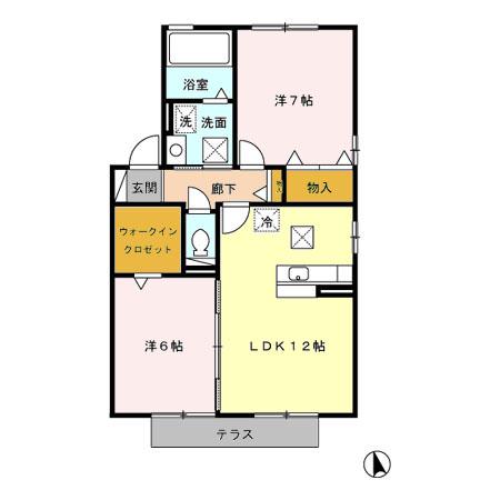 Villa・Ryutaku A・101号室の間取り