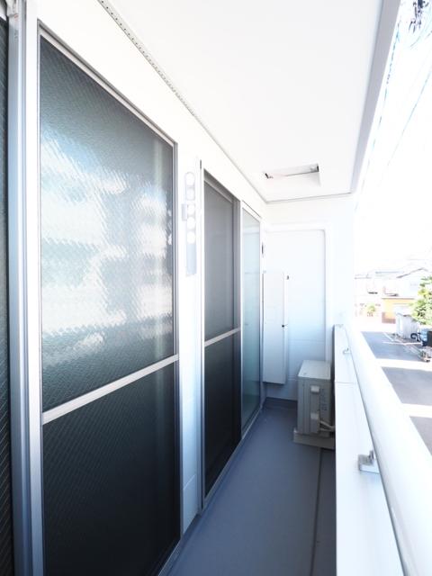 NEST黒川 201号室のバルコニー
