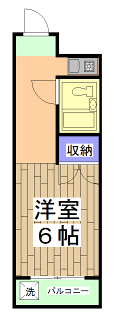 サニーハイツ西ノ京 3-F号室の間取り