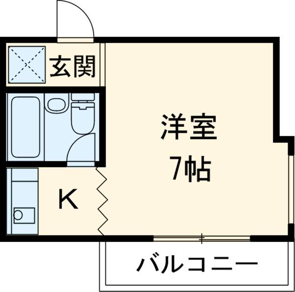 津賀田ハイツ 202号室の間取り