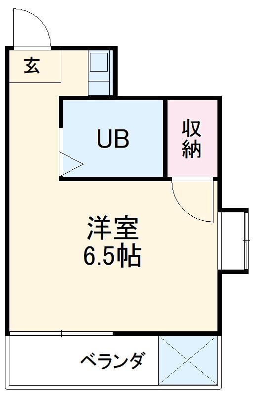 東菱八幡町マンション・501号室の間取り