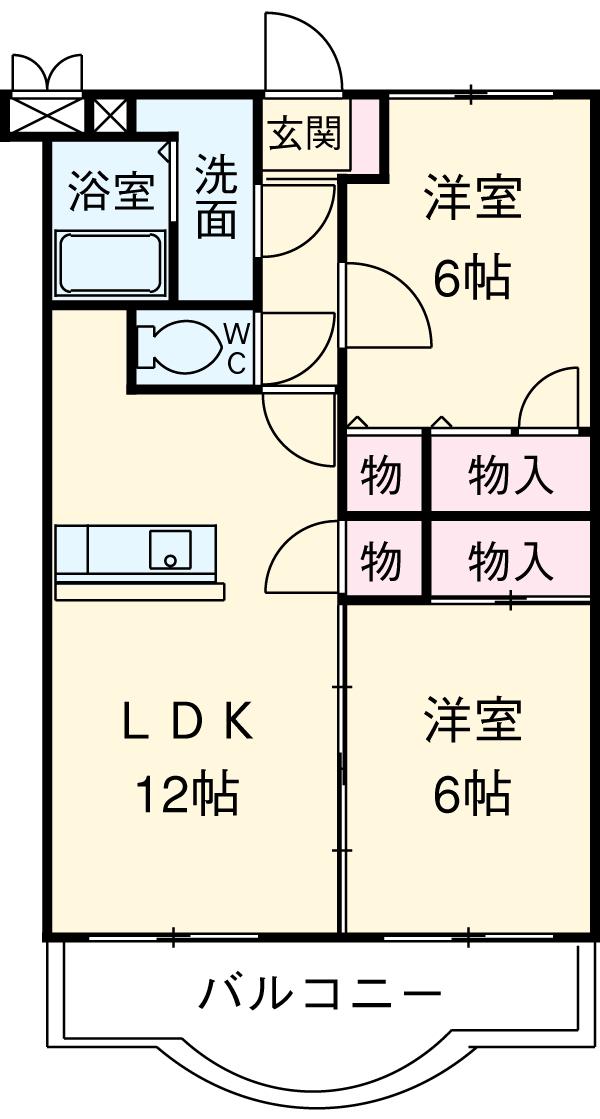 マテール寺田Ⅱ 103号室の間取り