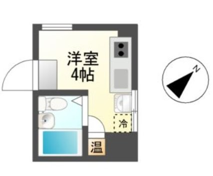 プチリヴェール昭和町 404号室の間取り