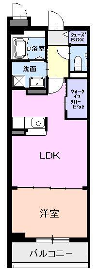 マートル・01020号室の間取り