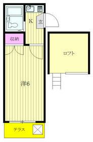 タンデム富岡・105号室の間取り