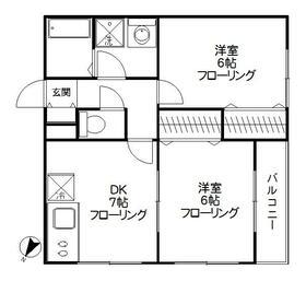 K・HouseⅠ 201号室の間取り