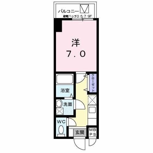 エトワールブランシュ新橋・04030号室の間取り