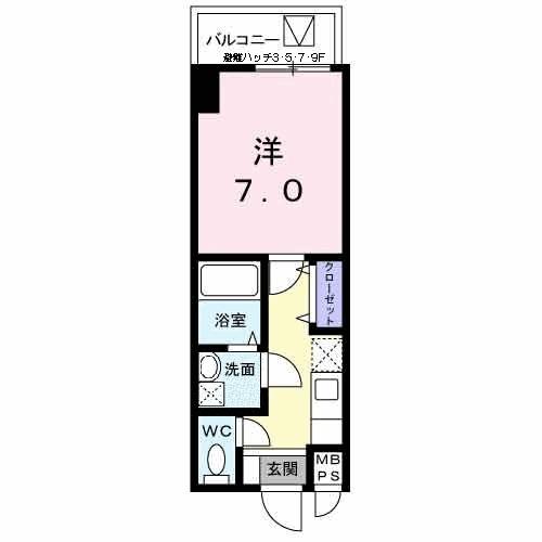 エトワールブランシュ新橋・07030号室の間取り