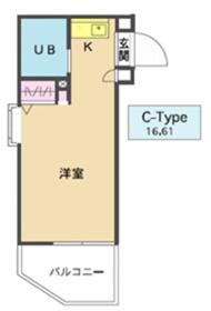 メゾン・ド・シャンテ 0408号室の間取り