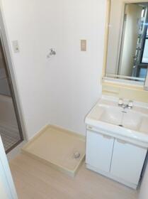 ブルーリーフ・K 0101号室の洗面所