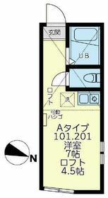ユナイト横浜バインミー・201号室の間取り