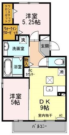 セジュール渋谷 105号室の間取り