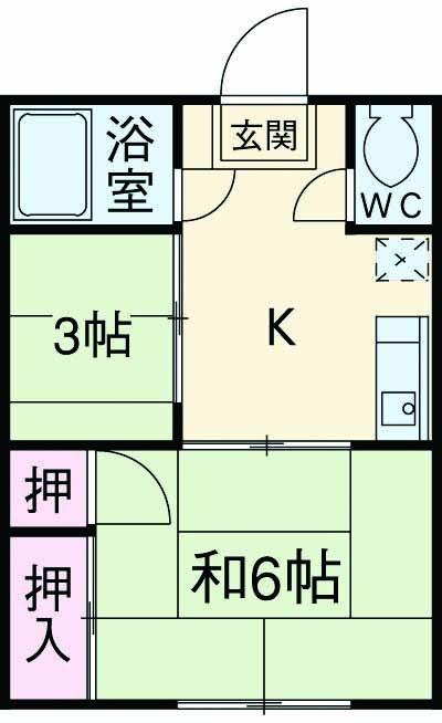 徳田マンション 202号室の間取り